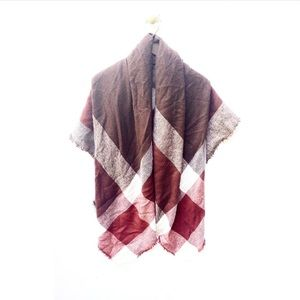 zara accessories buffalo plaid check blanket scarf